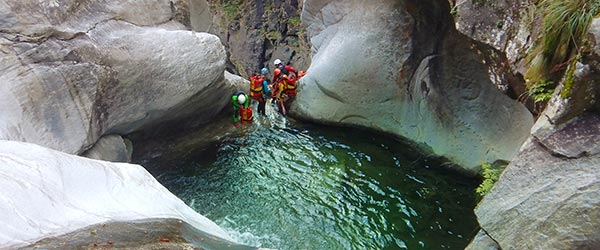 Canyoning Touren Level 3 - Allgäu - Tirol - Tessin
