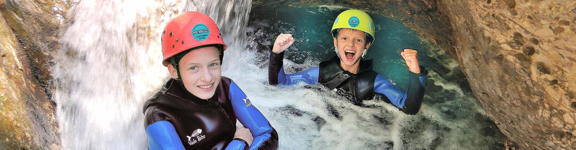 Canyoning Einsteiger und Familien Touren