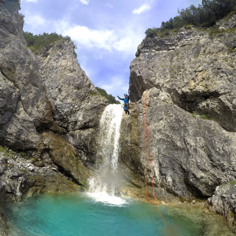 Canyoning Rossgumpenbach Lechtal