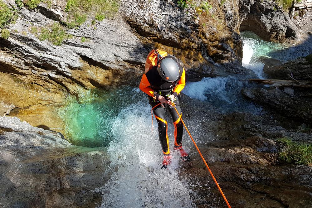Wiesbach Canyonin Lechtal