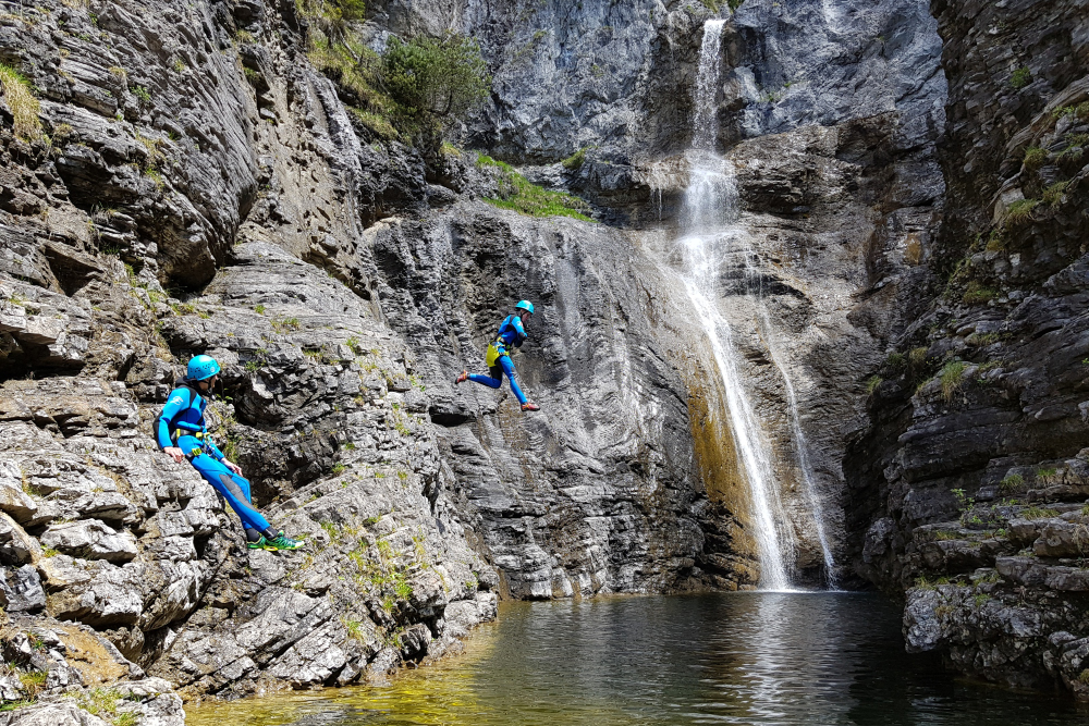 Canyoning Tour Stuibenfälle Level 2